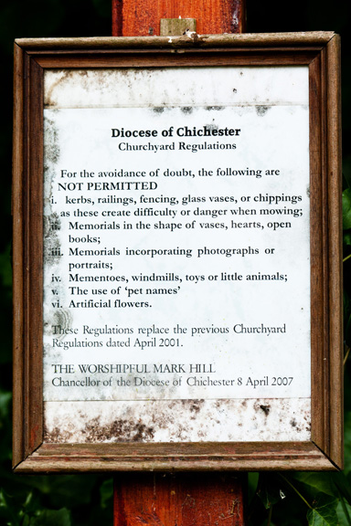 Diocese of Chichester Church Yard Grave Regulations